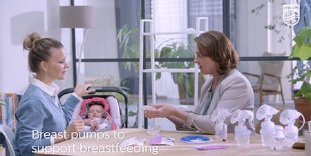 Breast pumps to support breastfeeding